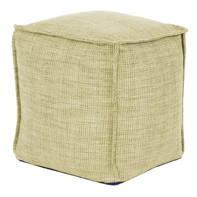 Piermont Square Pouf Ottoman Color: Peridot
