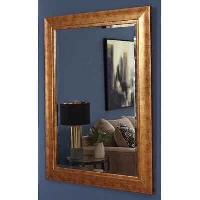 Antiqued Goldtone Wall Mirror