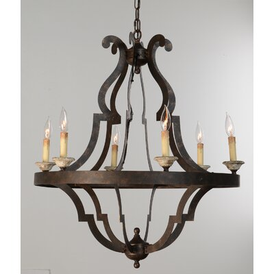 Marie 6-Light Candle-Style Chandelier