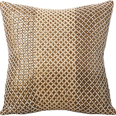 Stanton Sequined Throw Pillow Color: Cognac