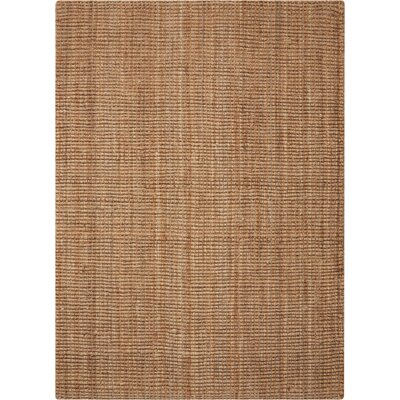 Leonila Handmade Brown Jute Area Rug Rug Size: Rectangle 26 x 4