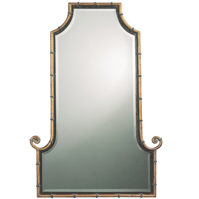 Arch Gold Iron Framed Mirror