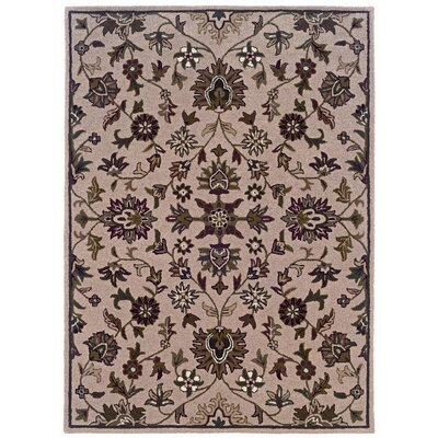 Milo Hand-Tufted Beige Area Rug Rug Size: 8 x 10