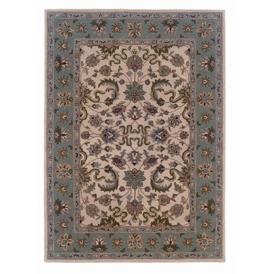 Milo Hand-Tufted Beige Area Rug Rug Size: 5 x 7