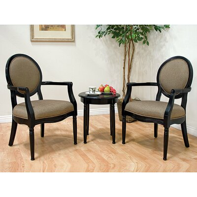 Gilman 3 Pieces Living Room Arm Chair Set