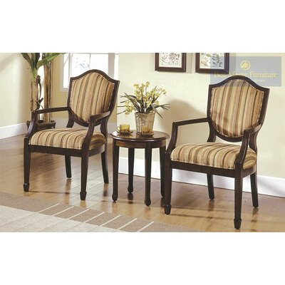 Sargentville 3 Pieces Living Room Arm Chair Set