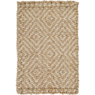 Annalee Hand-Woven Cream/Tan Area Rug Rug size: Rectangle 2 x 3