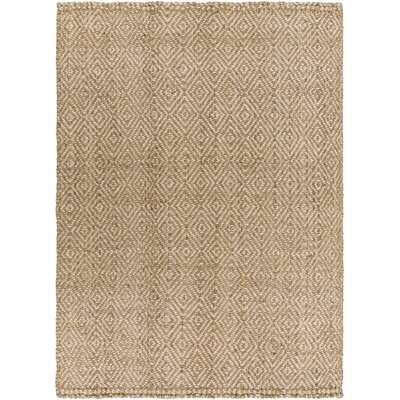 Annalee Hand-Woven Cream/Tan Area Rug Rug size: Rectangle 10 x 14