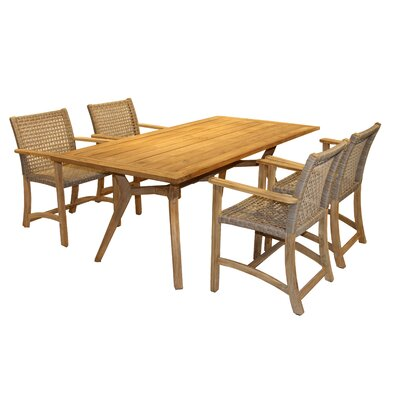 Marva Teak 5 Piece Dining Set