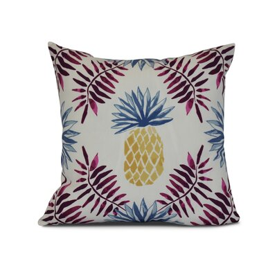 Costigan Pineapple and Spike Throw Pillow Size: 16 H x 16 W x 3 D, Color: Purple