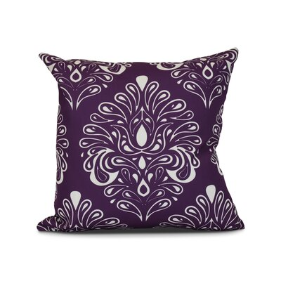 Hardouin Outdoor Throw Pillow Size: 18 H x 18 W x 3 D, Color: Purple