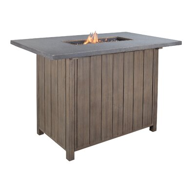 Goufes Aluminum Fire Pit Table