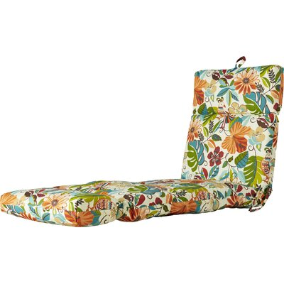 Outdoor Floral And Bird Chaise Lounge Cushion Fabric: Lensing Jungle
