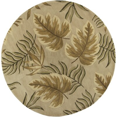 South Sand Fauna Area Rug Rug Size: Round 76