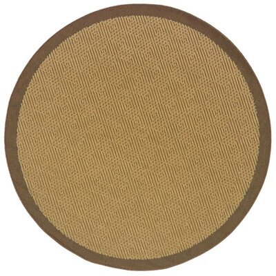 Goldenrod Beige/Brown Indoor/Outdoor Area Rug Rug Size: Round 710