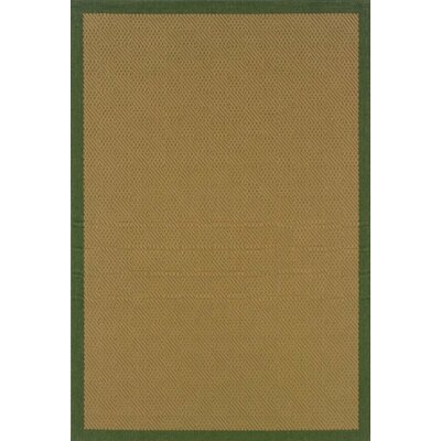 Goldenrod Beige/Green Indoor/Outdoor Area Rug Rug Size: 37 x 56