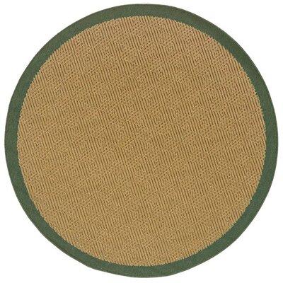 Goldenrod Brown Indoor/Outdoor Area Rug Rug Size: Round 710