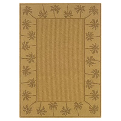 Goldenrod Beige/Tan Indoor/Outdoor Area Rug Rug Size: Rectangle 37 x 56