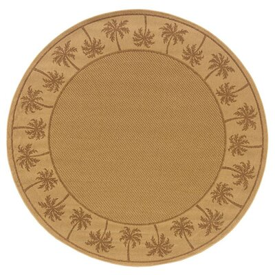 Goldenrod Beige/Tan Indoor/Outdoor Area Rug Rug Size: Round 710