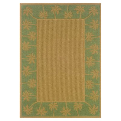 Goldenrod Beige/Green Indoor/Outdoor Area Rug Rug Size: 18 x 37