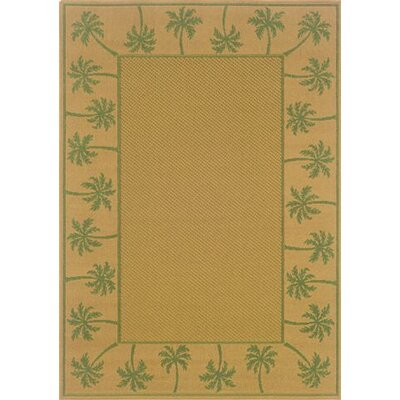 Goldenrod Beige/Green Indoor/Outdoor Area Rug Rug Size: Runner 23 x 76