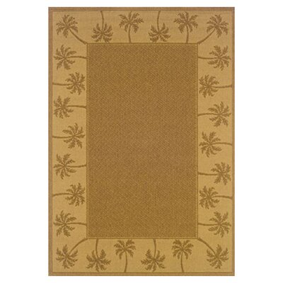 Goldenrod Tan/Beige Indoor/Outdoor Area Rug Rug Size: Rectangle 18 x 37