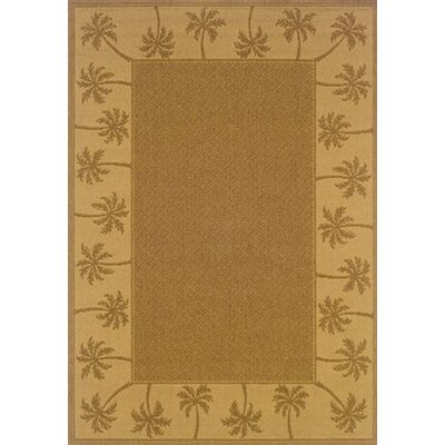 Goldenrod Tan/Beige Indoor/Outdoor Area Rug Rug Size: 37 x 56