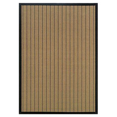 Goldenrod Beige/Black Indoor/Outdoor Area Rug Rug Size: 7'3
