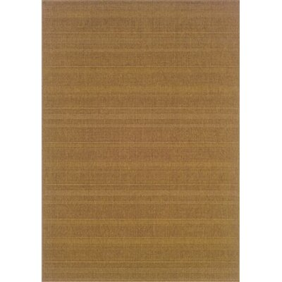 Goldenrod Tan Indoor/Outdoor Area Rug Rug Size: 18 x 37