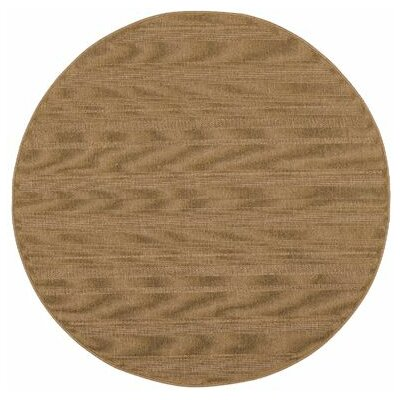 Goldenrod Tan Indoor/Outdoor Area Rug Rug Size: Round 710