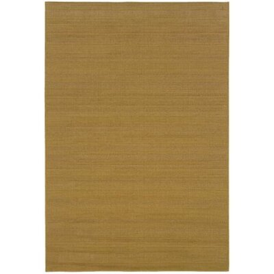 Goldenrod Beige Indoor/Outdoor Area Rug Rug Size: 53 x 76