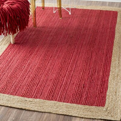 Dryden Hand-Woven Red Area Rug Rug Size: 5 x 8
