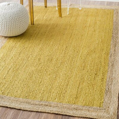 Merri Hand-Woven Yellow Area Rug Rug Size: Rectangle 4 x 6