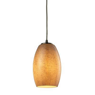Hertford 1-Light Mini Pendant Shade Color: Textured Beige, Bulb Type: Dimmable 800 Lumens 13.5W LED Bulb