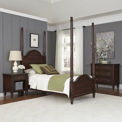 Canouan Four Poster 3 Piece Bedroom Set Size: Twin