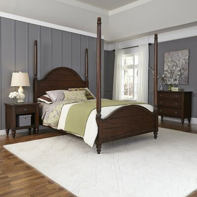 Canouan Four Poster 3 Piece Bedroom Set Size: Queen