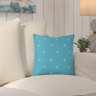 Asha Dorothy Dot Geometric Outdoor Throw Pillow Color: Turquoise