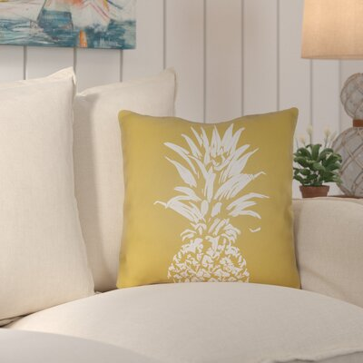 Jazmine Outdoor Throw Pillow Size: 18 H x 18 W x 4 D, Color: Yellow