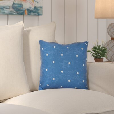 Asha Dorothy Dot Geometric Outdoor Throw Pillow Color: Blue