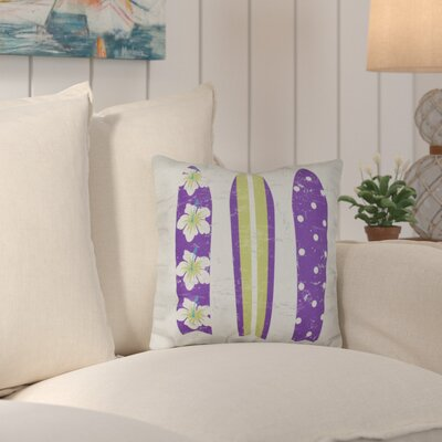 Janyce Triple Surf Geometric Outdoor Throw Pillow Color: Purple/Green