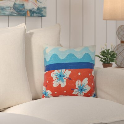 Surf, Sand and Sea Outdoor Throw Pillow Color: Orange