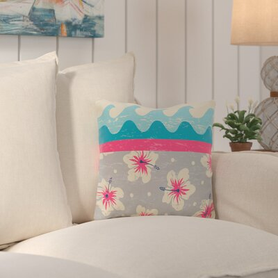 Surf, Sand and Sea Outdoor Throw Pillow Color: Pink