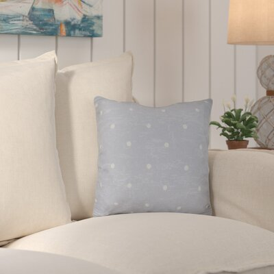 Asha Dorothy Dot Geometric Outdoor Throw Pillow Color: Gray