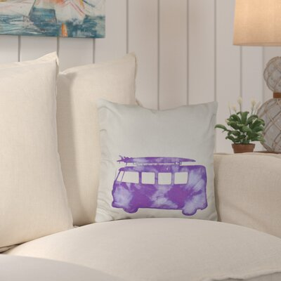 Marita Beach Drive Geometric Outdoor Throw Pillow Color: Purple