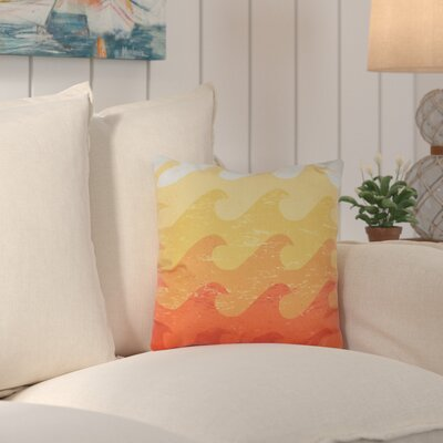 Deep Sea Geometric Outdoor Throw Pillow Color: Yellow
