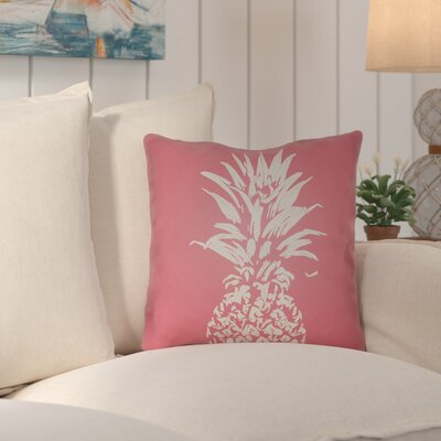 Jazmine Outdoor Throw Pillow Size: 18 H x 18 W x 4 D, Color: Pink