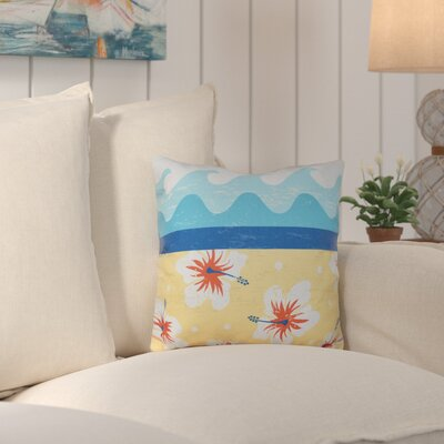 Surf, Sand and Sea Outdoor Throw Pillow Color: Yellow