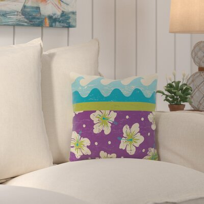 Surf, Sand and Sea Outdoor Throw Pillow Color: Green