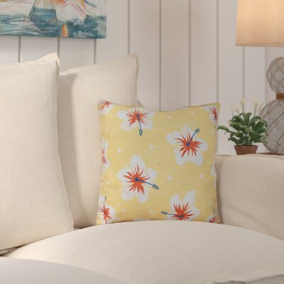 Hibiscus Blooms Outdoor Throw Pillow Color: Yellow