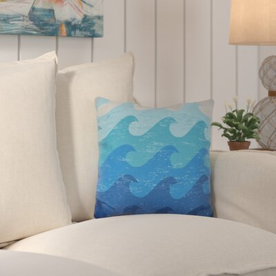 Deep Sea Geometric Outdoor Throw Pillow Color: Blue